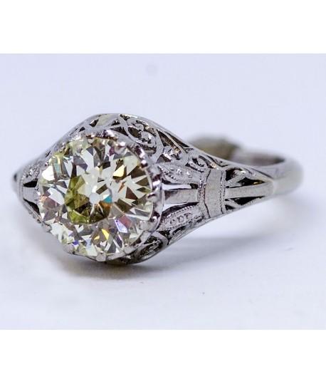 Platinum Vintage Diamond Engagement Ring