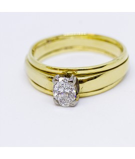 Diamond Gold and Platinum Engagement Ring
