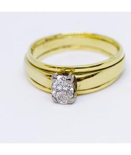 Diamond Gold and Platinum Engagement Ring